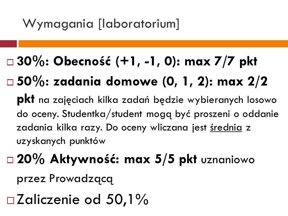 Wymagania [laboratorium]